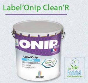 Peinture dépolluante : label Onip Clean'R